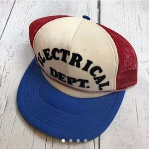 Vintage trucker hat SnapBack 80's electrical dept